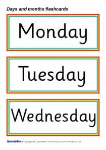 days and months vocabulary primary teaching resources and printables sparklebox