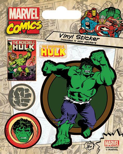 Baby Hulk Aufkleber by Marvel Comics Hulk Retro Sticker Sets 10x12 5