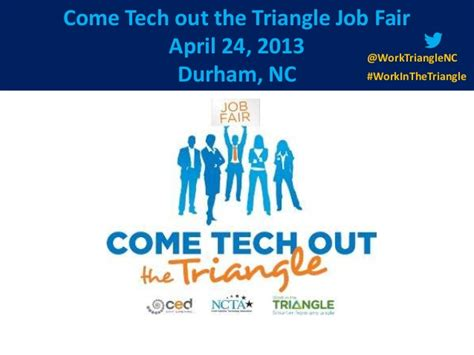 Mba Career Fair Rtp Nc by Work In The Triangle