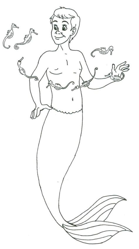 Merman Coloring Book Coloring Pages Merman Coloring Pages