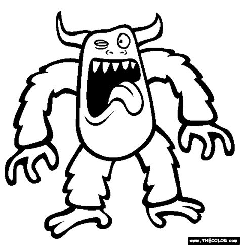 coloring pictures monsters coloring pages