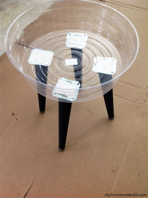 diy table removable legs easy cement side table with removable legs diy furniture studio