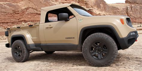 renegade jeep truck comanche concept makes the jeep renegade into a truck