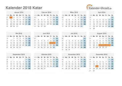 Kalender Dezember 2018 Feiertage 2018 Katar Kalender 220 Bersicht