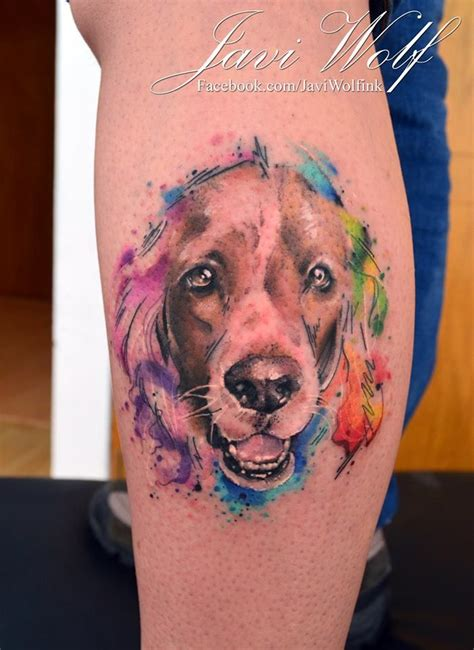 watercolor sketch realistic tattooed by