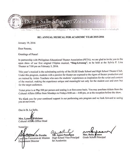 Recommendation Letter La Salle Notes On Calendar Feed Calendar Template 2016