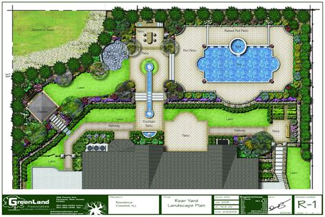 backyard plan a full rendered landscape plan for a residence in alpine