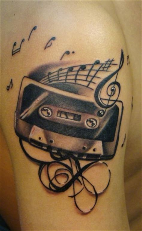 house music tattoo i