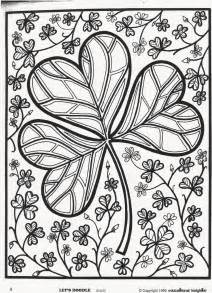 free let s doodle coloring pages st s day shamrock coloring page free educational