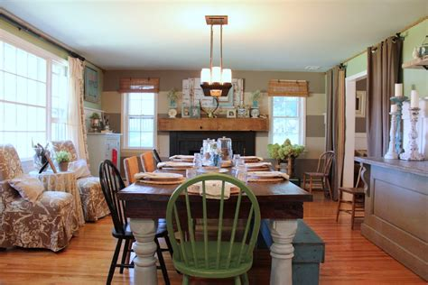 Terrific farmhouse dining table decorating ideas images in dining room