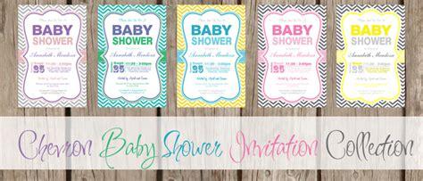 chevron printable invitation template free printable chevron baby shower invitations