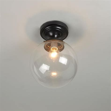 Globe Ceiling Lights Glass Globe Ceiling Light Clear Or White Glass Glass Globe Ceilings And Globes