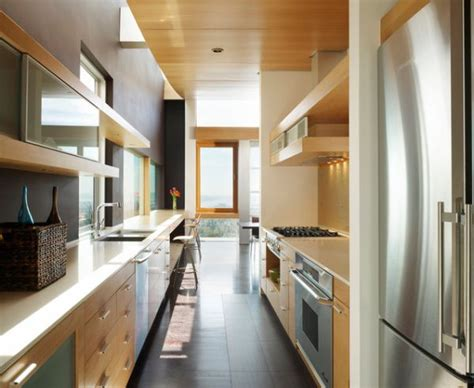 narrow kitchen form and function in a galley kitchen