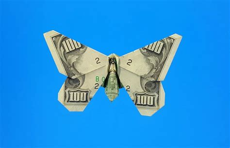 Butterfly Origami Dollar Bill - origami butterflies by richard l and greg