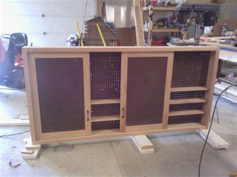 Sliding Door Shop Cabinet by Sliding Door Shop Cabinet By Shelly B Lumberjocks