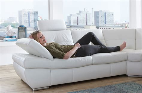 Salzburg Sectional Sleeper Sofa White Leather Buy Online