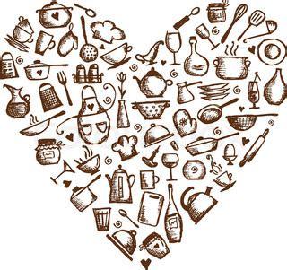 rugnur cucina i love my kitchen and utensils cream red kitchen utensils sketch heart clipart panda free