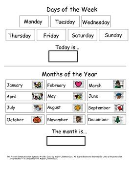 My Find Of The Week by Matching And Identifying Days And Month For With