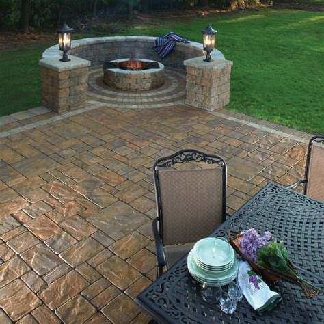 Pit On Patio by Design Gallery Cambridge Pavingstones With Armortec