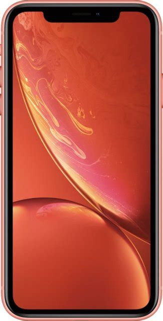 apple iphone xr 64gb coral at t mryw2ll a best buy