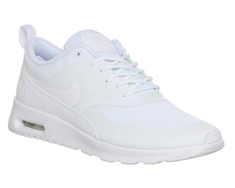 nike white sneaker nike air max thea low top sneakers in white lyst