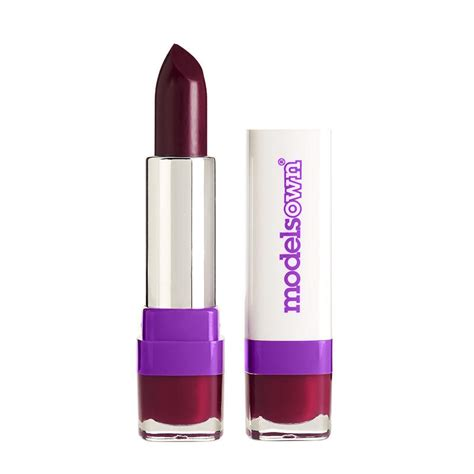 Lipstick With Burgundy Shirt models own burgundy wine lipstick from live