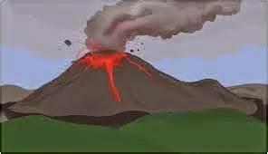 film animasi gunung meletus gambar tanda gejala bencana alam letusan gunung berapi