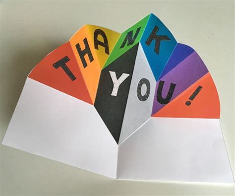 make a pop up card template expanding pop up pop up cards thank you card design