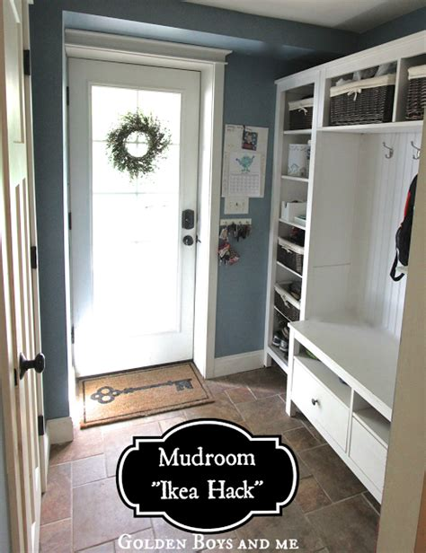 Hack Mud | golden boys and me mudroom repurposed ikea hemnes