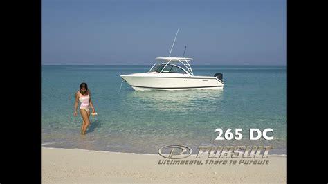 boats like pursuit pursuit boats dc 265 dual console walk through youtube