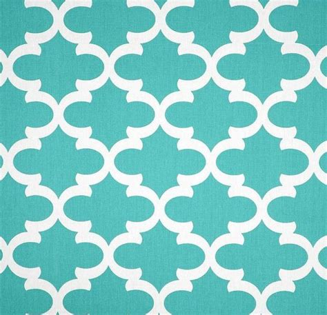 trellis fabric quatrefoil lattice aqua blue trellis tiffany blue fabric