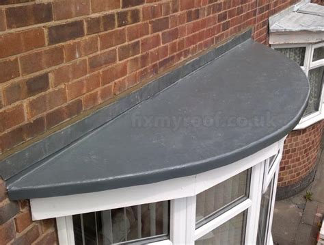 Bow Window Canopies fibreglass bay roofs choose a style and colour the lead