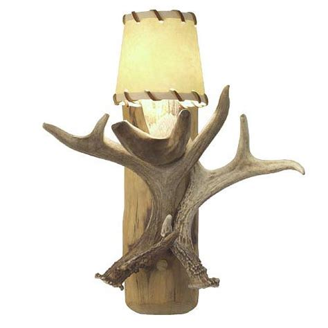Antler Wall Sconce Antler And Lodgepole Wall Sconce