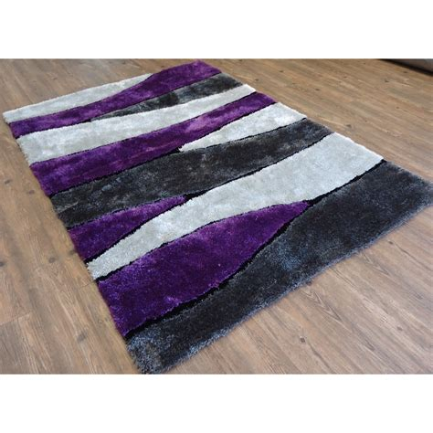 rug factory plus tufted gray purple area rug wayfair