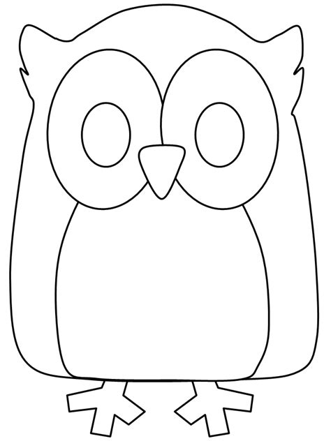 Cute Owl Coloring Pages Coloring Home Animal Templates