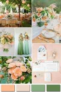 Green and Peach Wedding Colors
