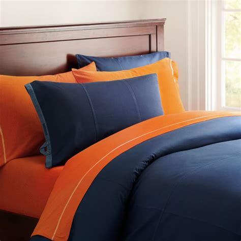 Bedcover Set 160x200x20cm Jaxine Polkadot Orange duvet cover navy navy blue white striped duvet cover blue and white striped d rugby stripe