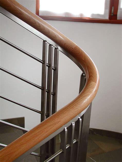 corrimano scale in legno corrimano curvo in rovere de stalis scale