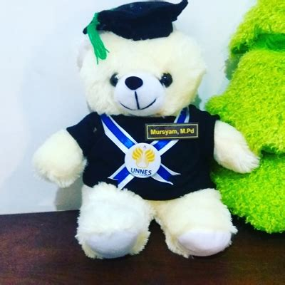 Buket Bunga Flanel Panda Kado Wisuda teddy wisuda 30cm kado wisudaku