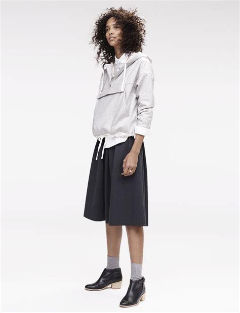 Set Hoodie Midi Skirt madewell pleated ponte midi skirt worn with the coated