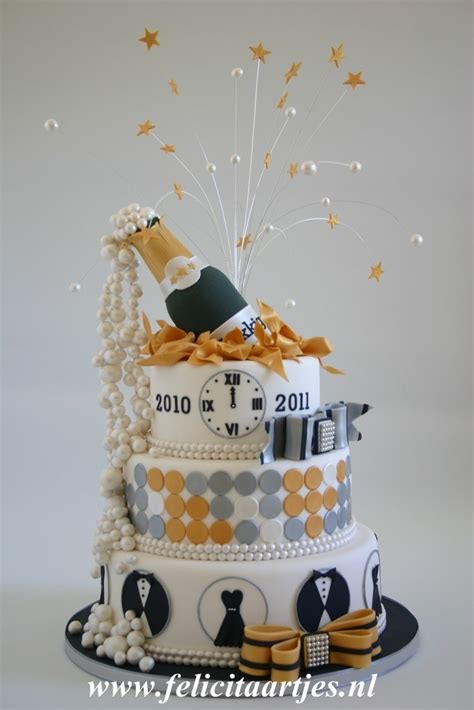 new year cake decoration happy new year by felicitaartjes new years