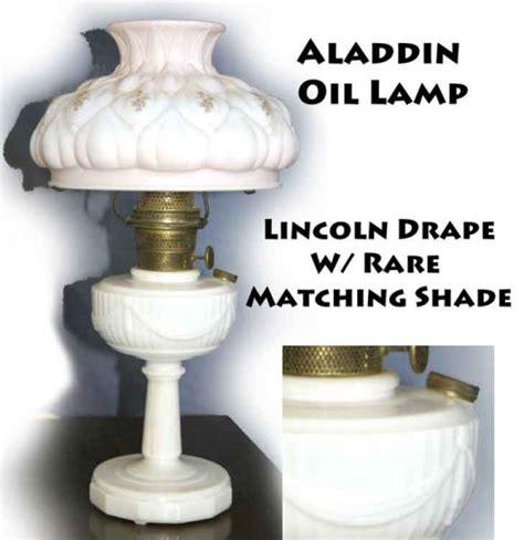 aladdin lincoln drape l aladdin oil l lincoln drape w rare matching shade