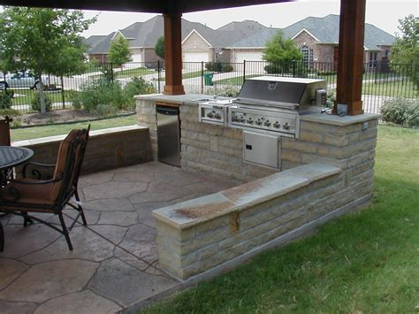 Backyard Kitchen Ideas Cozy Open Air Kitchen Design Idea Interior Design