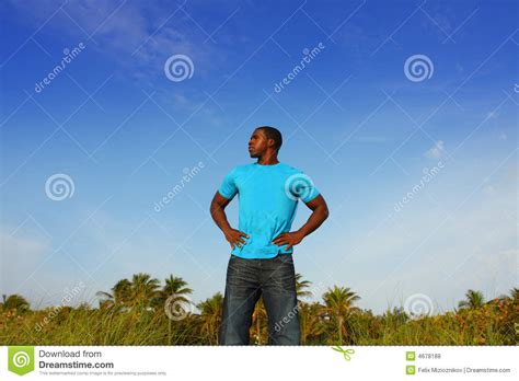 black tall standing l young black man standing tall stock photo image 4678188