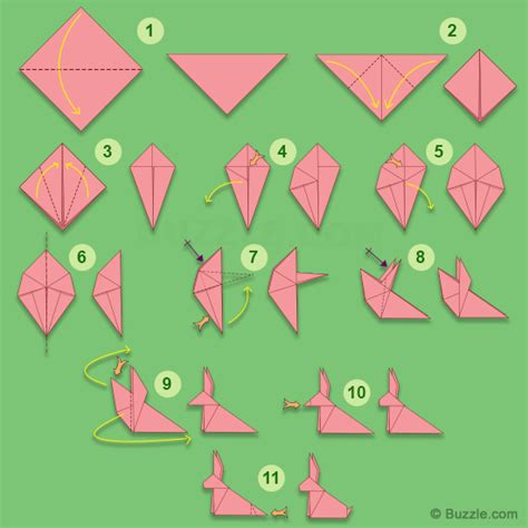 How To Fold A Paper Rabbit - print and fold paper crafts