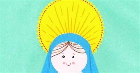 manualidades de la virgen maria blog para una navidad feliz manualidad tarjeta de la