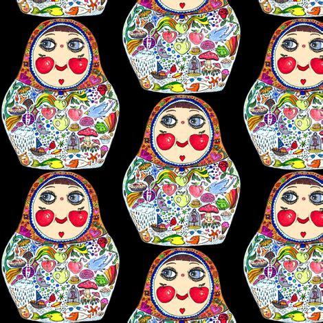 russian doll design wallpapers cheeks like apples matryoshka doll black background