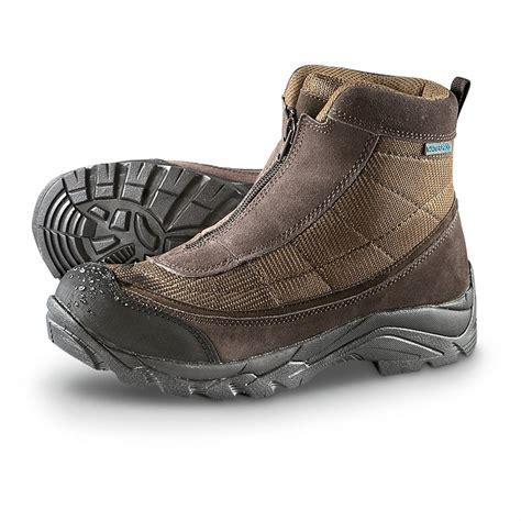 mens winter boots with zipper s guide gear 174 waterproof 200 gram front zip boots