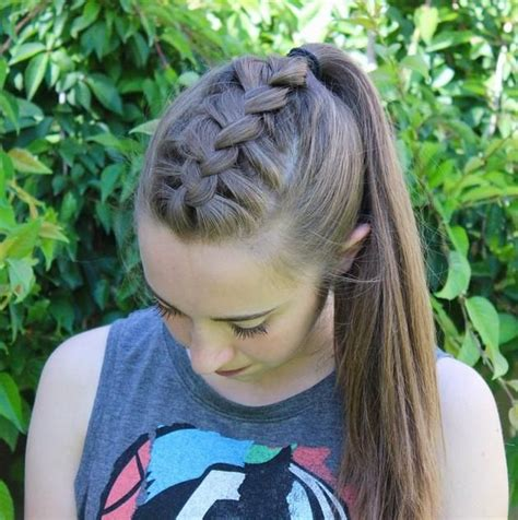 hair braidmed into pony tail with a ball best 25 french braid ponytail ideas on pinterest french