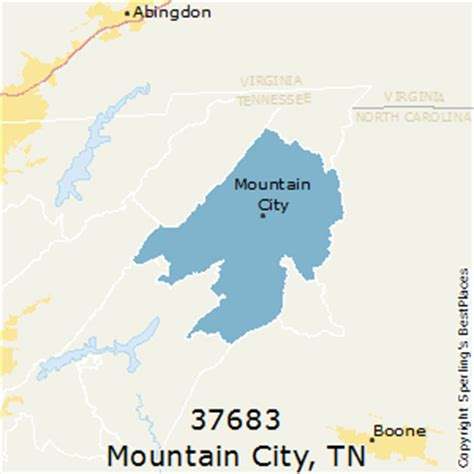 zip code map johnson city tn best places to live in mountain city zip 37683 tennessee